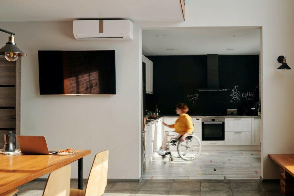 adentro, casa, cocina